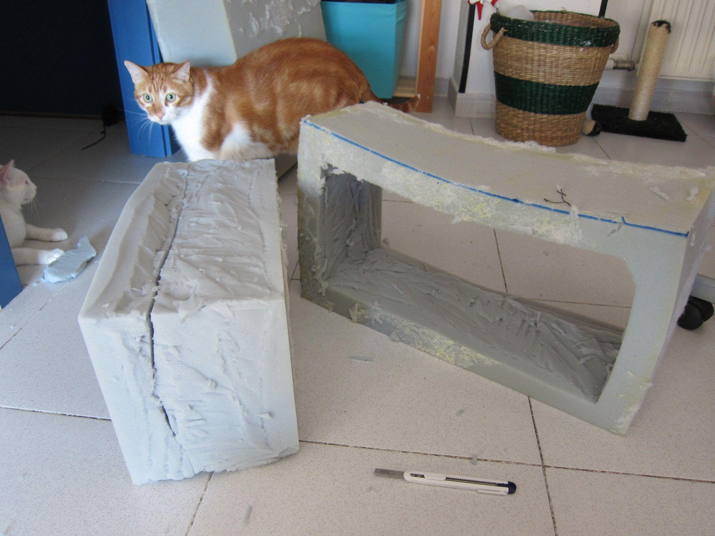 paso 2, se corta a la medida y forma deseada con cutter
