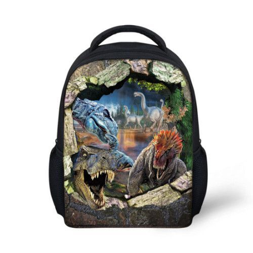 Mochilas Jurassic Park 3D Dinosaur Kids School Bookbags Laptop Travel Daypack Bag Purse for Boys