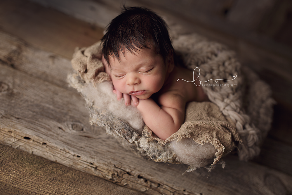 Newborn photography prop vessel used by bachmanville photography