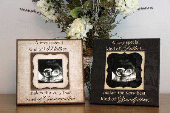 Grandparents Pregnancy Reveal ~ DuoPack~ Sonogram Photo ~ Picture ...