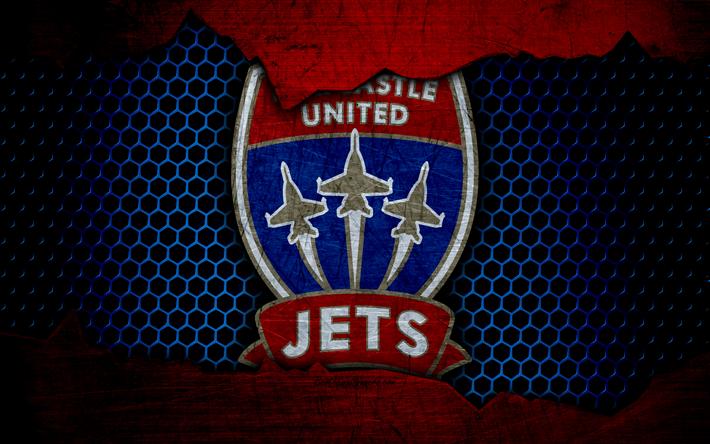 футбол 1 Wallpaper: Download Wallpapers Newcastle Jets, 4k, Logo, A-League