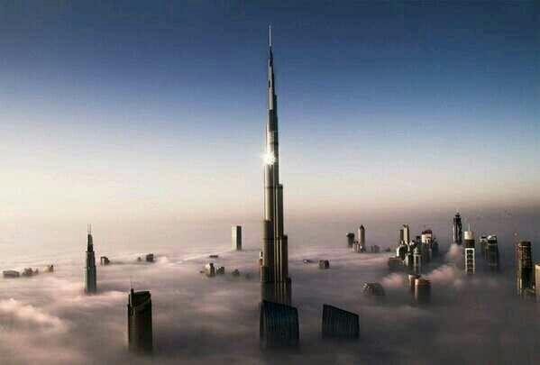 Dubai entre nubes