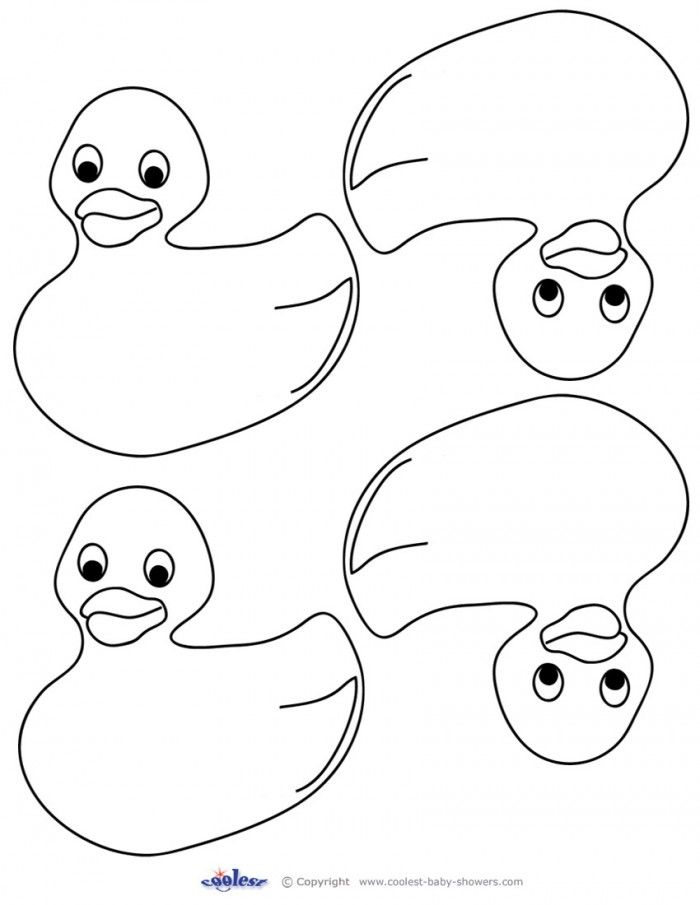 Rubber Duck Coloring Pages Free Baby Shower Duck Rubber Ducky