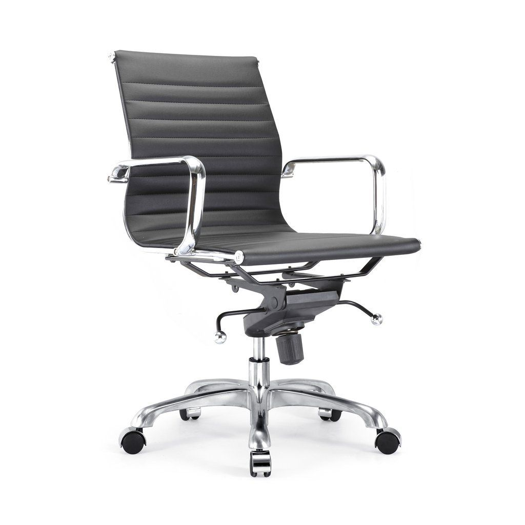 Modernize Your Workspace With This Century Ribbed Office Chair With Its Timeless Modern Design This Chair Comes Wit Office Chair Office Chair Design
