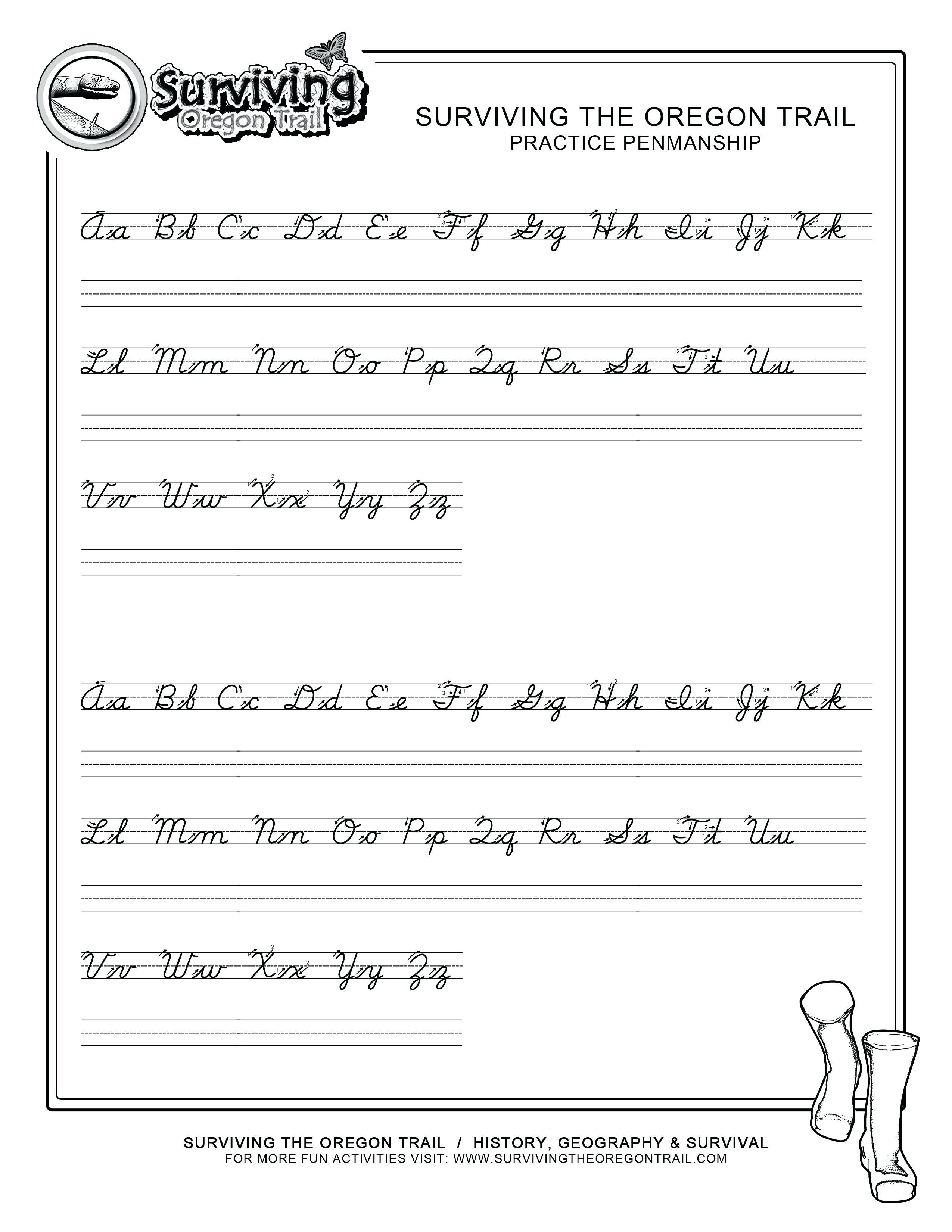 30 Simple Handwriting Worksheets For You S