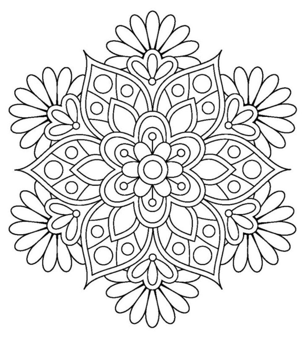 Flower Mandala Coloring Pages Mandala Coloring Coloring Pages