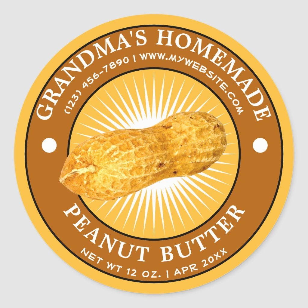 Vintage Homemade Peanut Butter Label Template Zazzle Com Homemade Peanut Butter Label Templates Peanut Butter