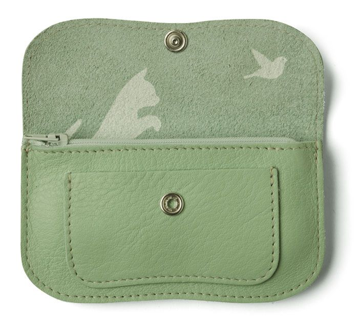 Cat chase wallet by Keezie | Bags | Pinterest | Leder portemonnaie ...