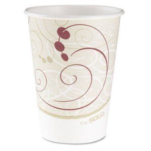 6 Pack Hot Cups, Symphony Design, 12 oz., Beige, 50/Pack by SOLO CUPS (Catalog Category: Office Maintenance, Janitorial & Lunchroom / Food & Beverage / Cups/Mugs/Servers) by SOLO CUPS. $48.05. 6 Pack Hot Cups, Symphony Design, 12 oz., Beige, 50/Pack by SOLO CUPSWith swirl pattern are designed for hot liquids. Cup Type: Hot; Capacity (Volume): 12 oz; Material(s): Paper.