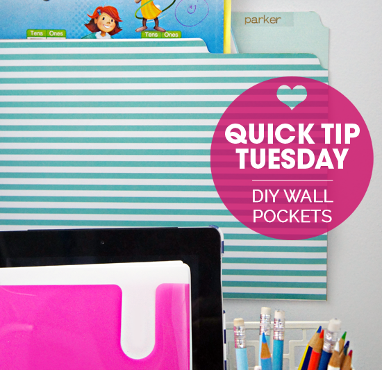 Quick Tip Tuesday: DIY Wall Pockets