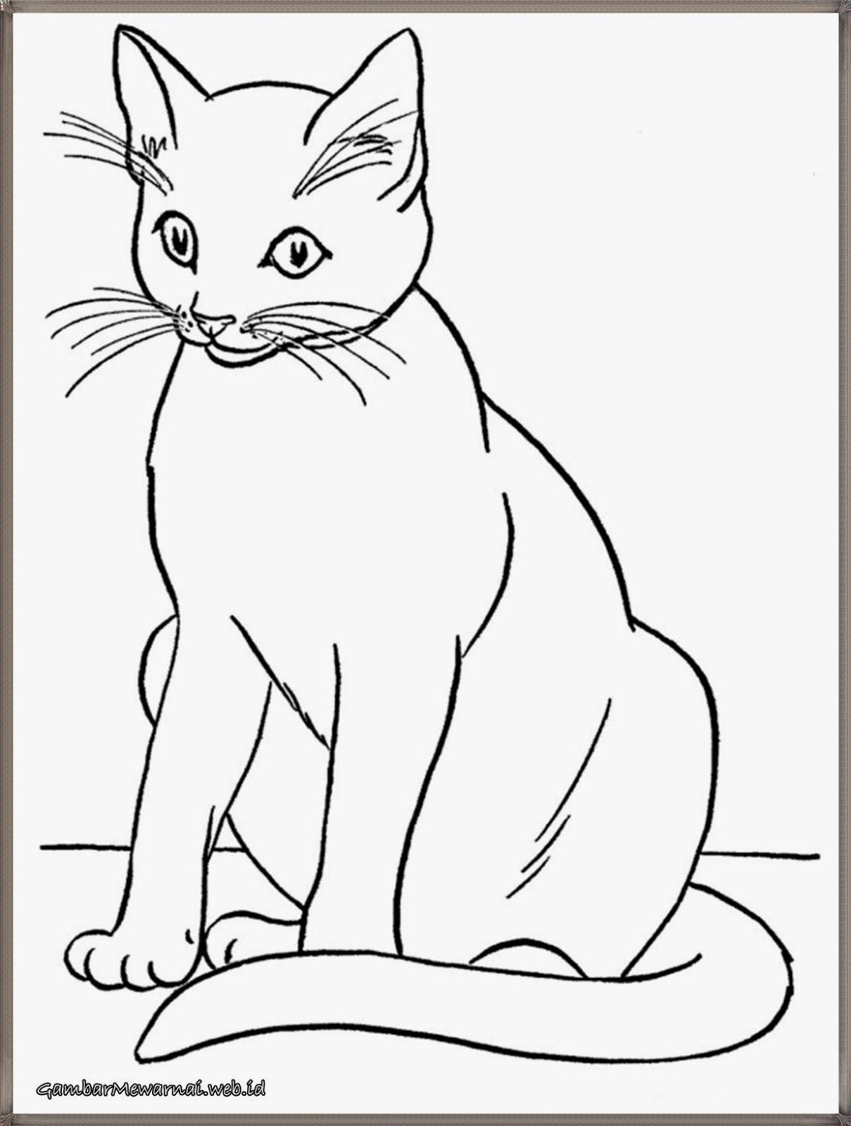Gambar Kucing Sketsa : gambar, kucing, sketsa, Gambar, Mewarnai:, Mewarnai, Kucing, GambarMewarnai.Web.Id, Hewan,, Sketsa, Menggambar