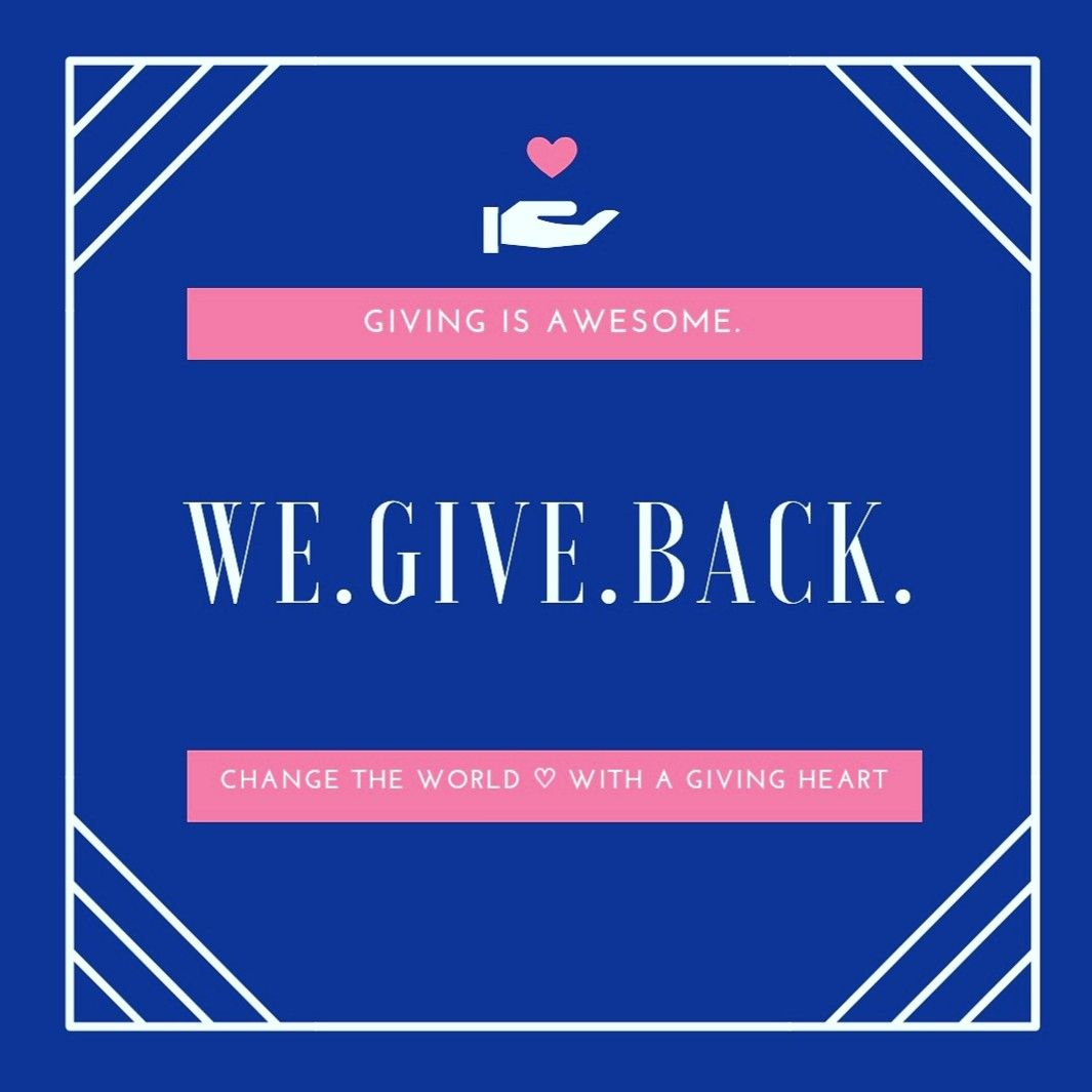 We Give Back Givingtuesday Giving Back Is Good For You