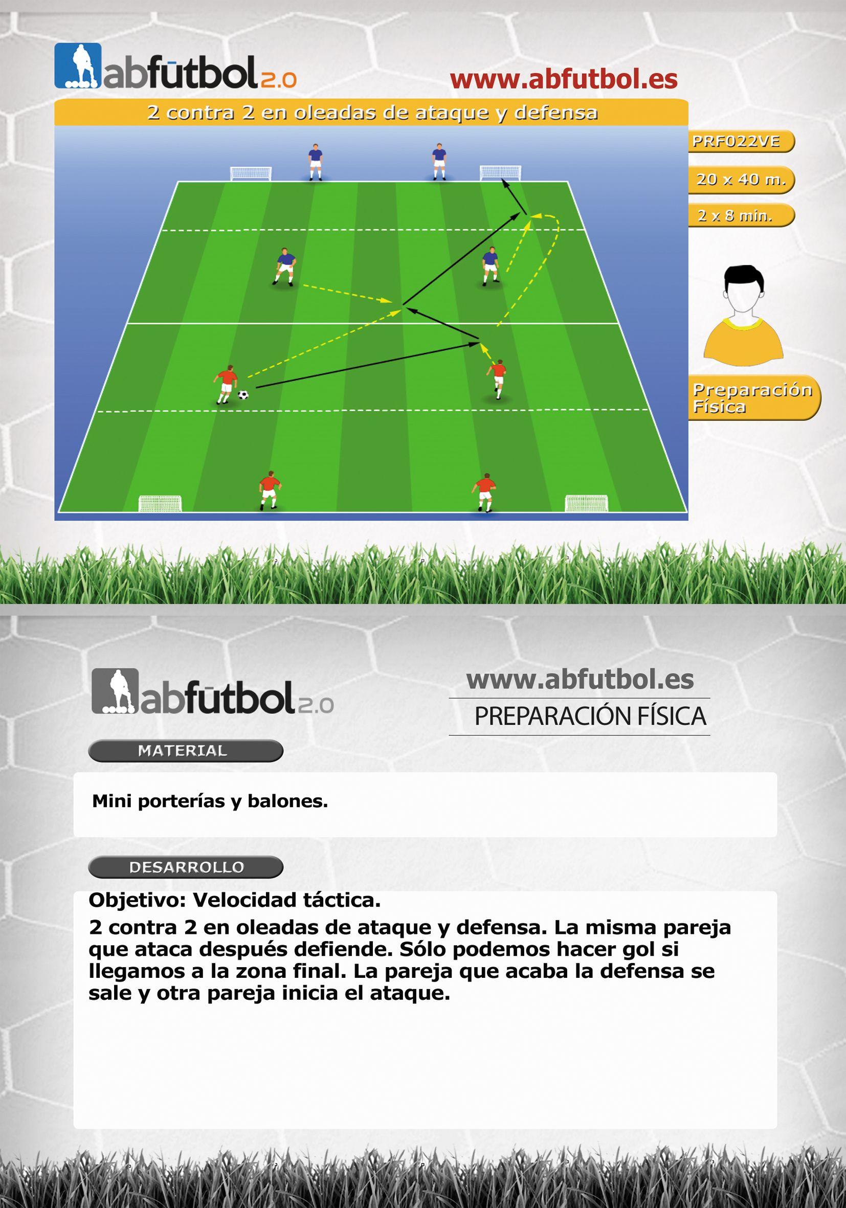 2 Contra 2 En Oleadas De Ataque Y Defensa Abfutbol Es Entrenamiento Futbol Ejercicios De Fútbol Ejercicios De Entrenamiento