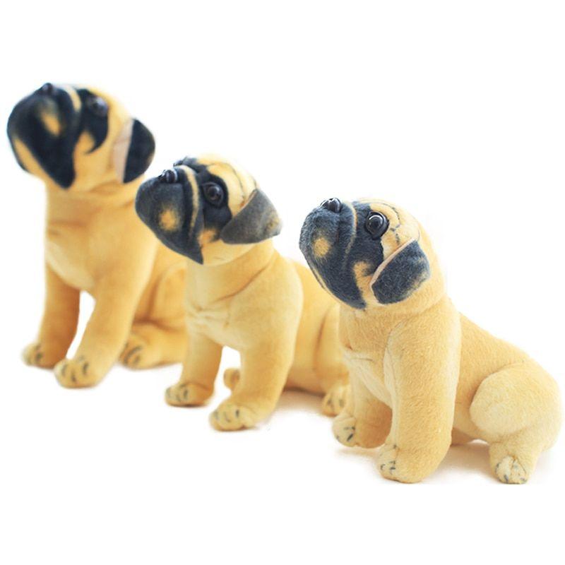 1pc 20 25 30cm Simulation Pug Dog Plush Dolls Toy Soft Stuffed