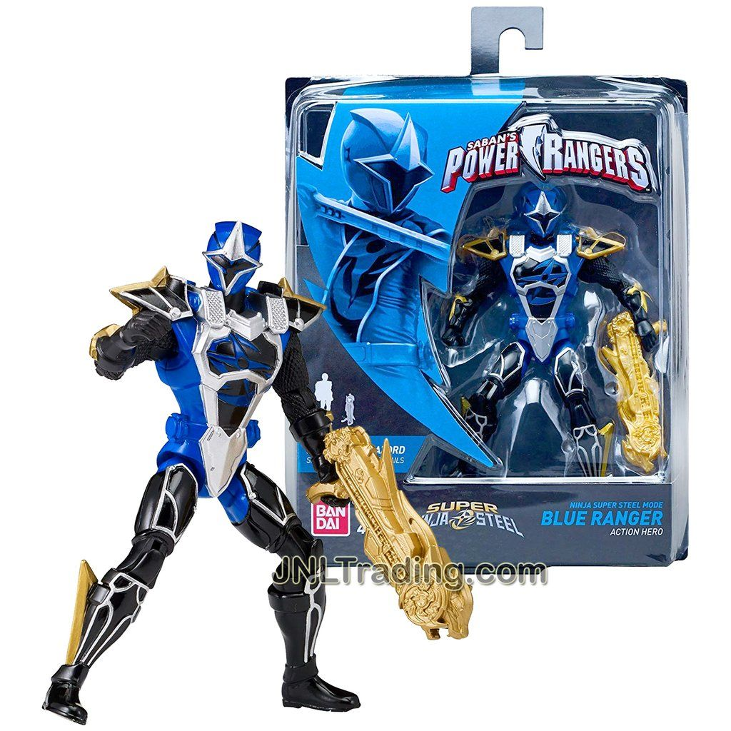 "Power Rangers Ninja Steel Blue Ranger 5/"" Mighty Morphin Figurine Bandai"