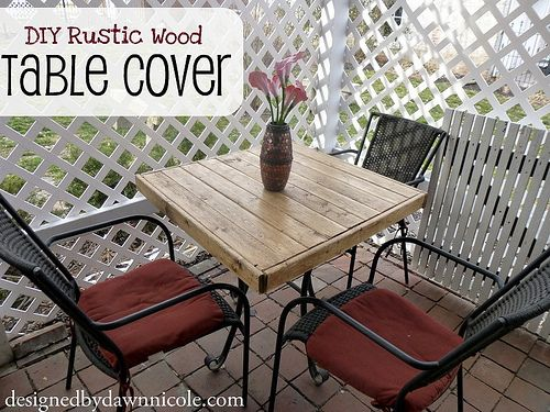 DIY Rustic Wood Table Cover. Create a simple, inexpensive wood cover for an  old