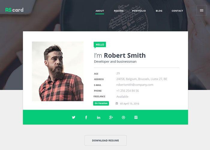 material design resume  cv  u0026 portfolio