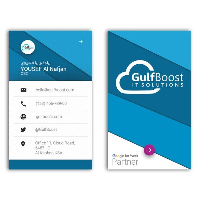 Material Design business card for a tech startup by ...