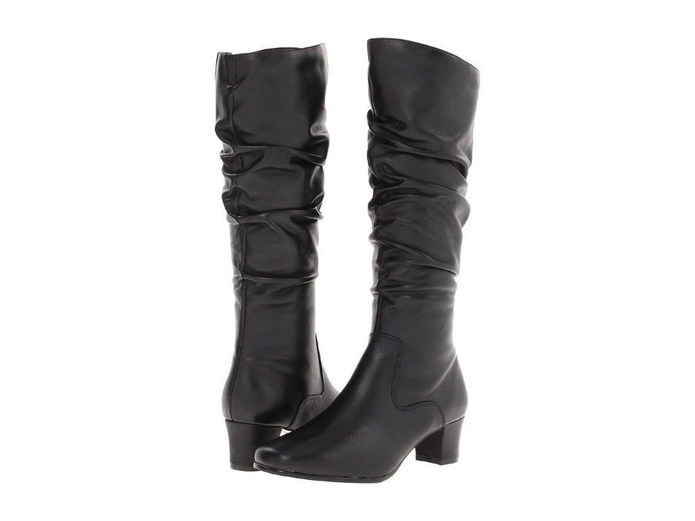 Great Womens Boots Vaneli Ramex Boot (Wide Shaft) Black Nappa/Black Super Star Suede