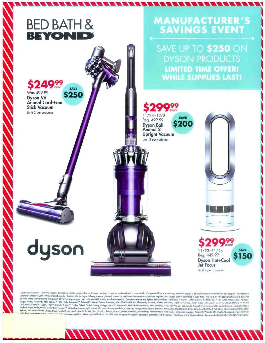 Can you use bed bath and beyond coupons on dyson как почистить фильтр dyson dc62