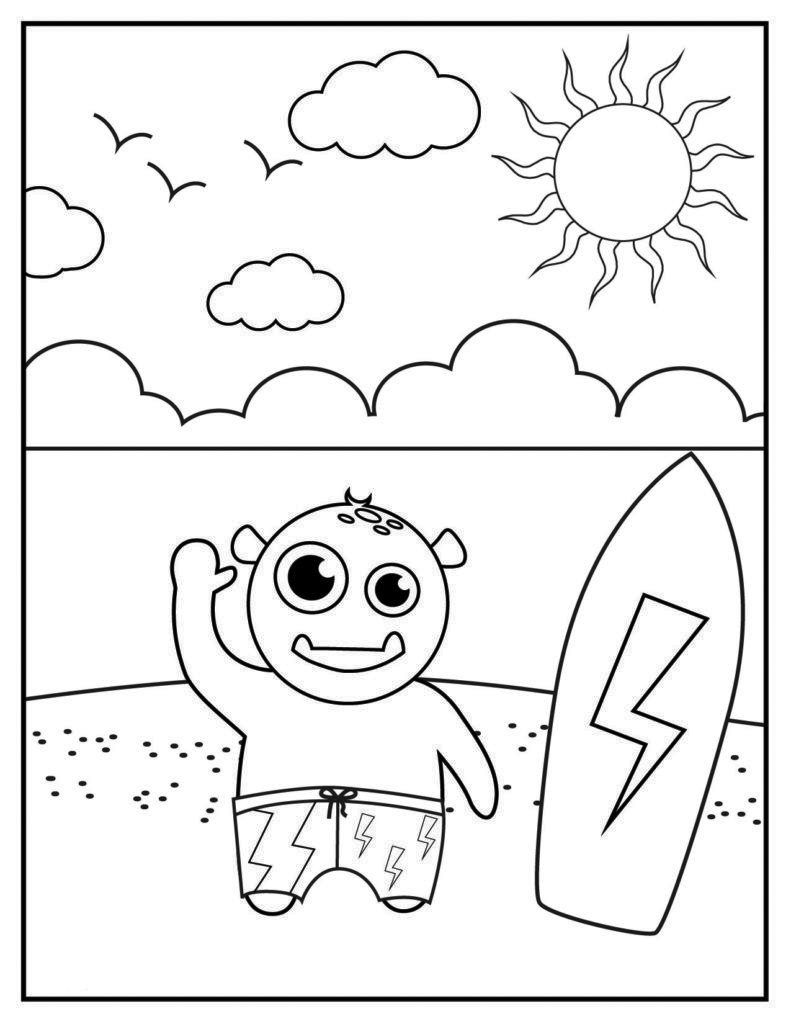 June Coloring Pages Best Coloring Pages For Kids Coloring Pages For Kids Summer Coloring Pages Coloring Pages [ 1024 x 791 Pixel ]