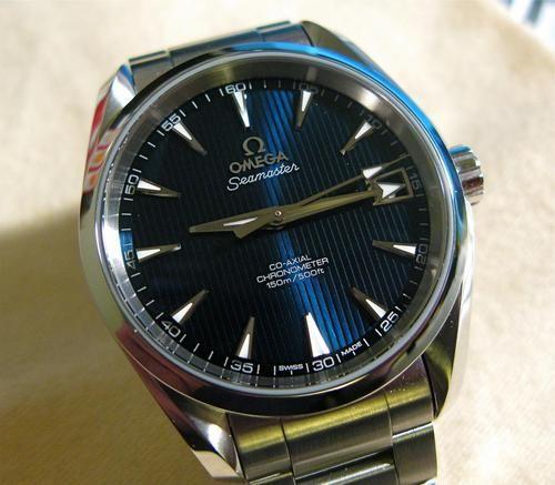 "Gorgeous Blue Dial Omega Seamaster Aqua Terra 8500 ""Skyfall"" #Watches #Menswear #Omega #Seamaster   omegaforums.net"