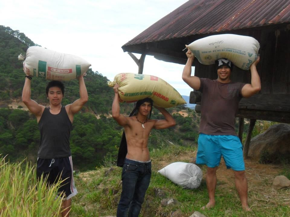 Farm Workers in   remote  Philippine North province