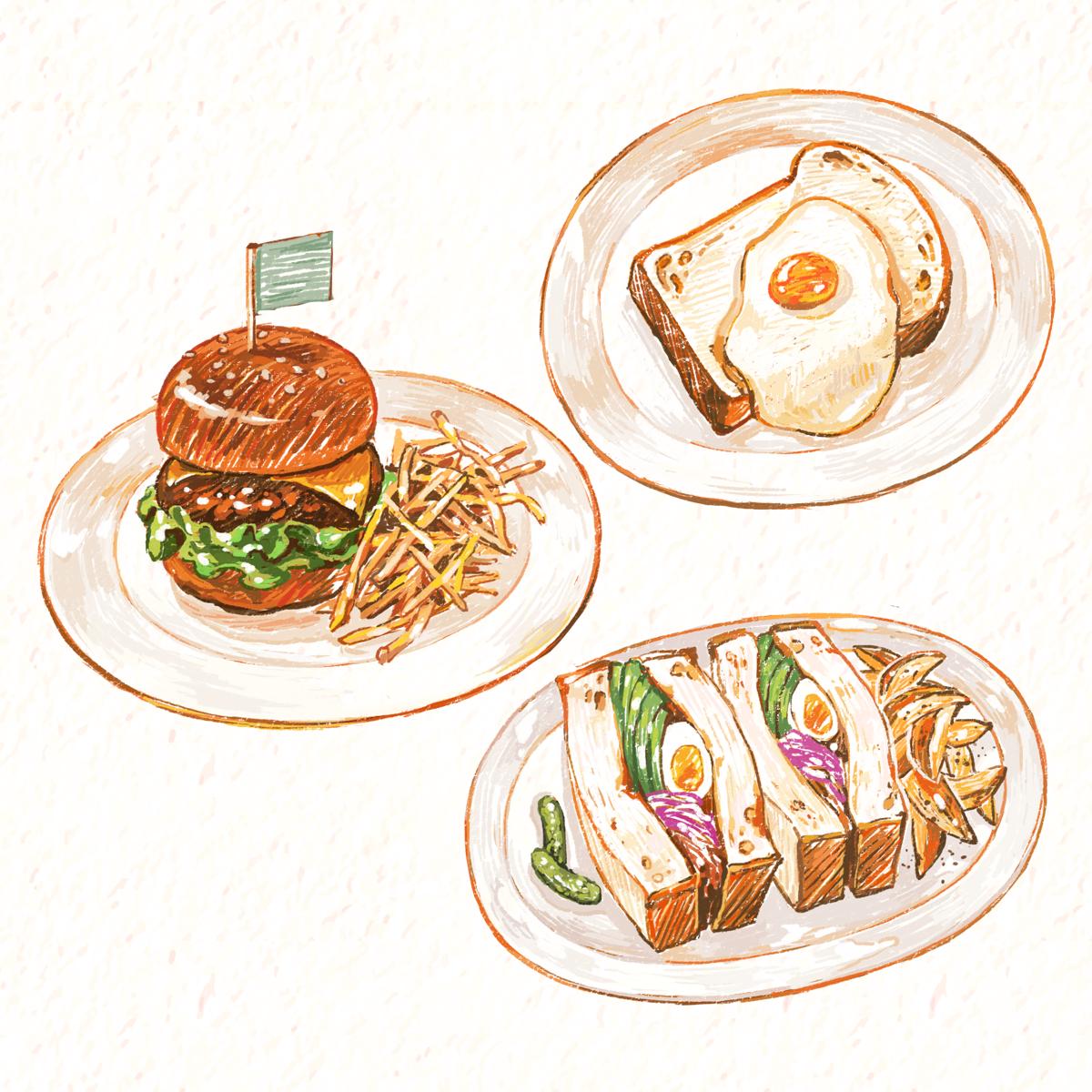 Diner food ~ illustration   Food ~ illustrations 2 in 2019