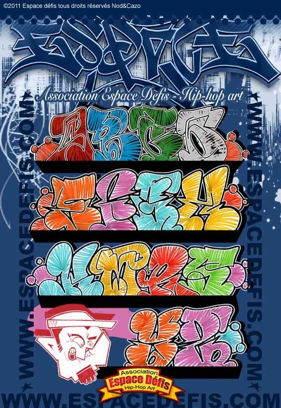 14 alphabet graffiti flop n 39 h sitez pas construire les autres lettres et en cr er de. Black Bedroom Furniture Sets. Home Design Ideas