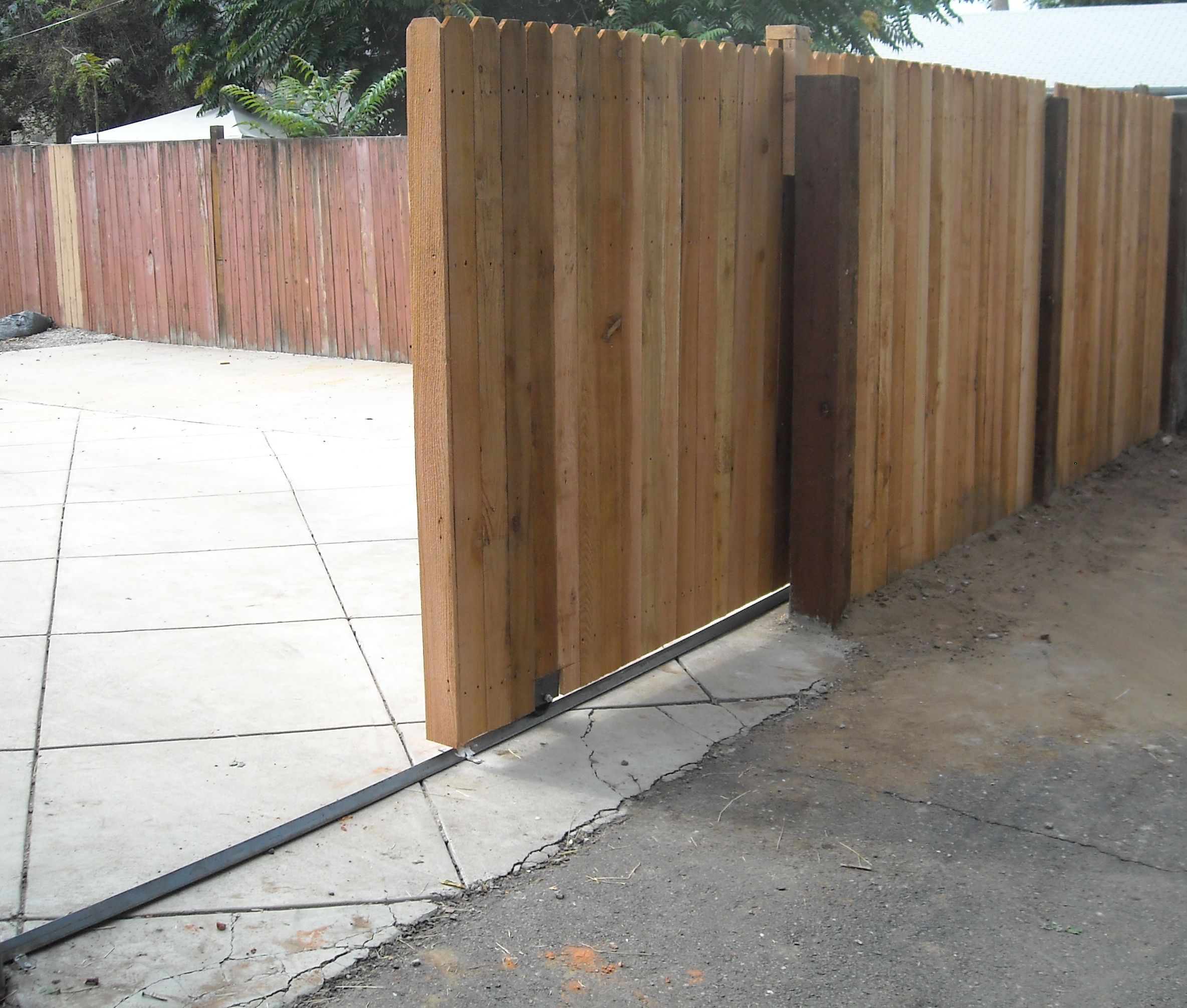 Caster Track Google Search Backyard Fences Yard Gate Wood Gate