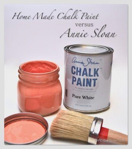 Chalk Paint Vs Enamel For Kitchen Cabinets: Homemade Chalk Paint Vs Annie Sloan