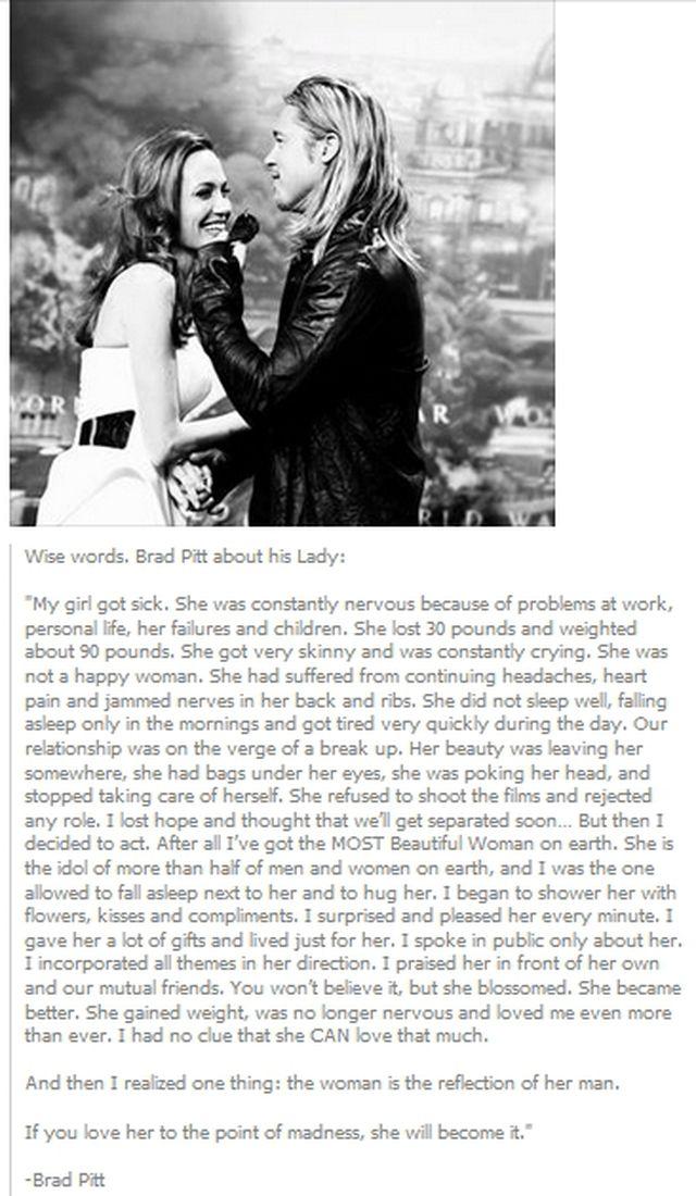 brad pitt wife quote