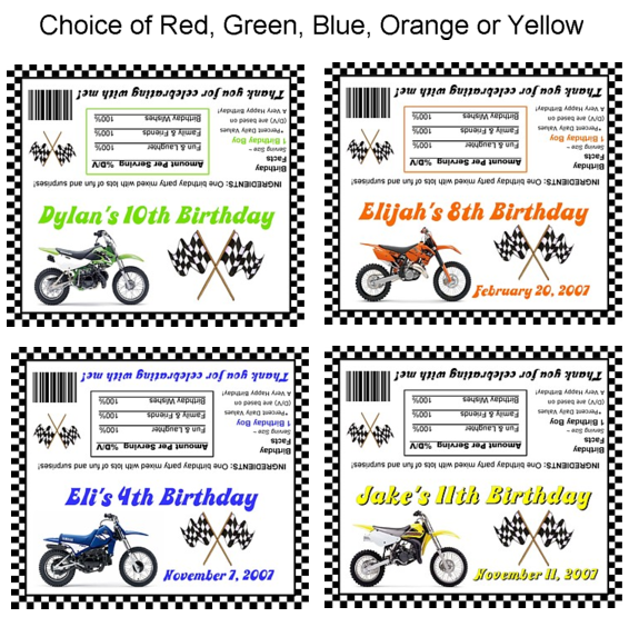 Dirt bike birthday party bag toppers loot bags favors bike dirt bike birthday party bag toppers favors wrecloseable bags filmwisefo