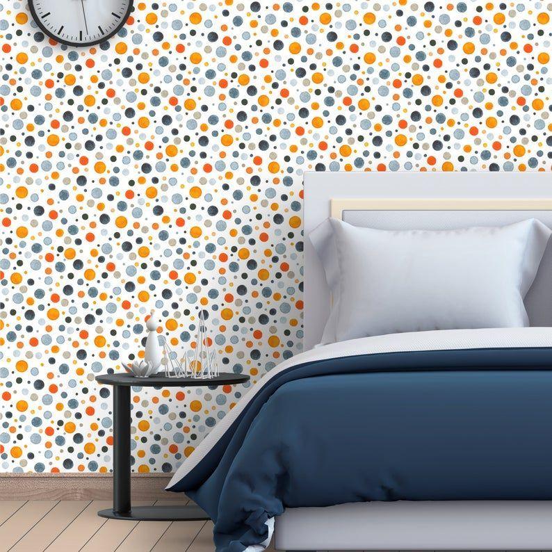 Removable Wallpaper Watercolor Retro Circles Peel And Etsy Circles Etsy Peel Removable R Removable Wallpaper Nursery Wallpaper Peel And Stick Wallpaper