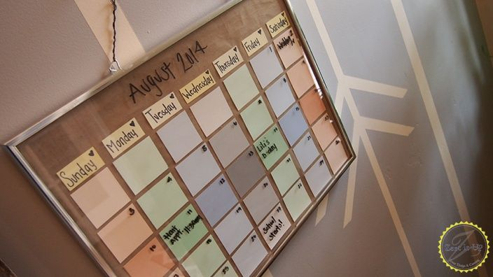 Find  Fix it Friday How to make your own Paint Strip Calendar