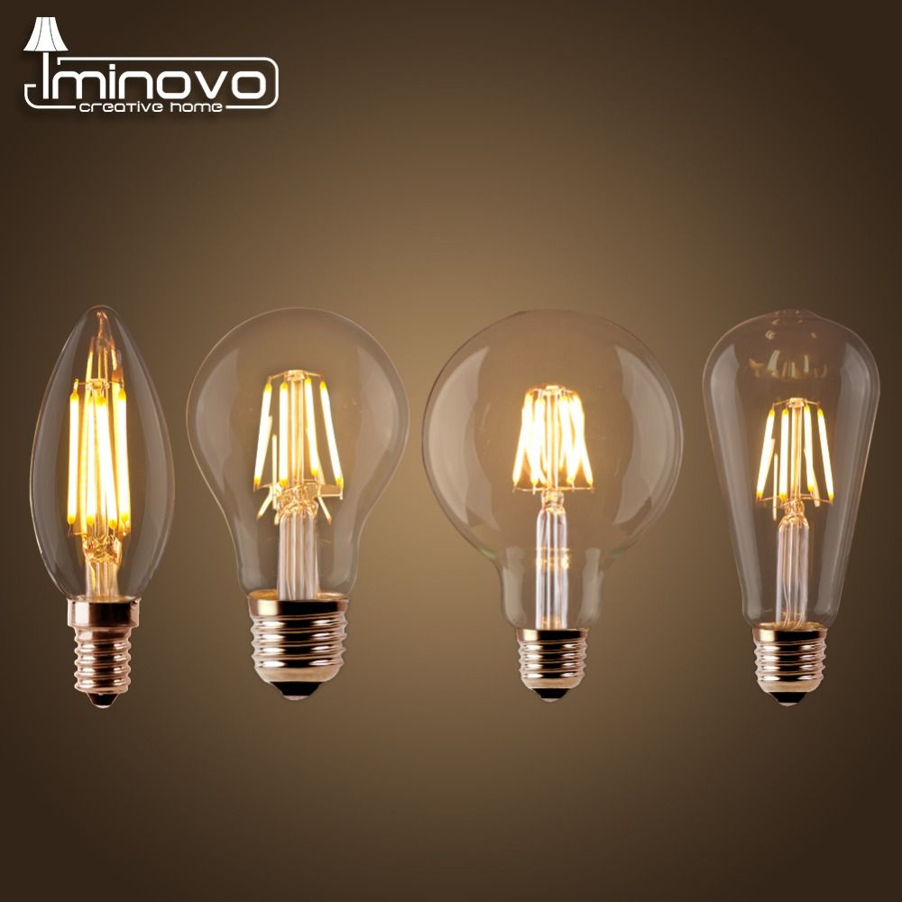 Led filament bulb e27 retro edison lamp 220v e14 vintage candle led filament bulb retro edison lamp vintage candle light globe chandelier lighting cob home decor energy savingchina arubaitofo Gallery