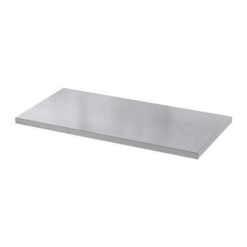 Great SANFRID Table Top IKEA Stainless Steel Gives A Strong And Durable Surface  That Is Easy To Keep Clean. Pre Drilled Holes For Legs, For Easy Assembly.