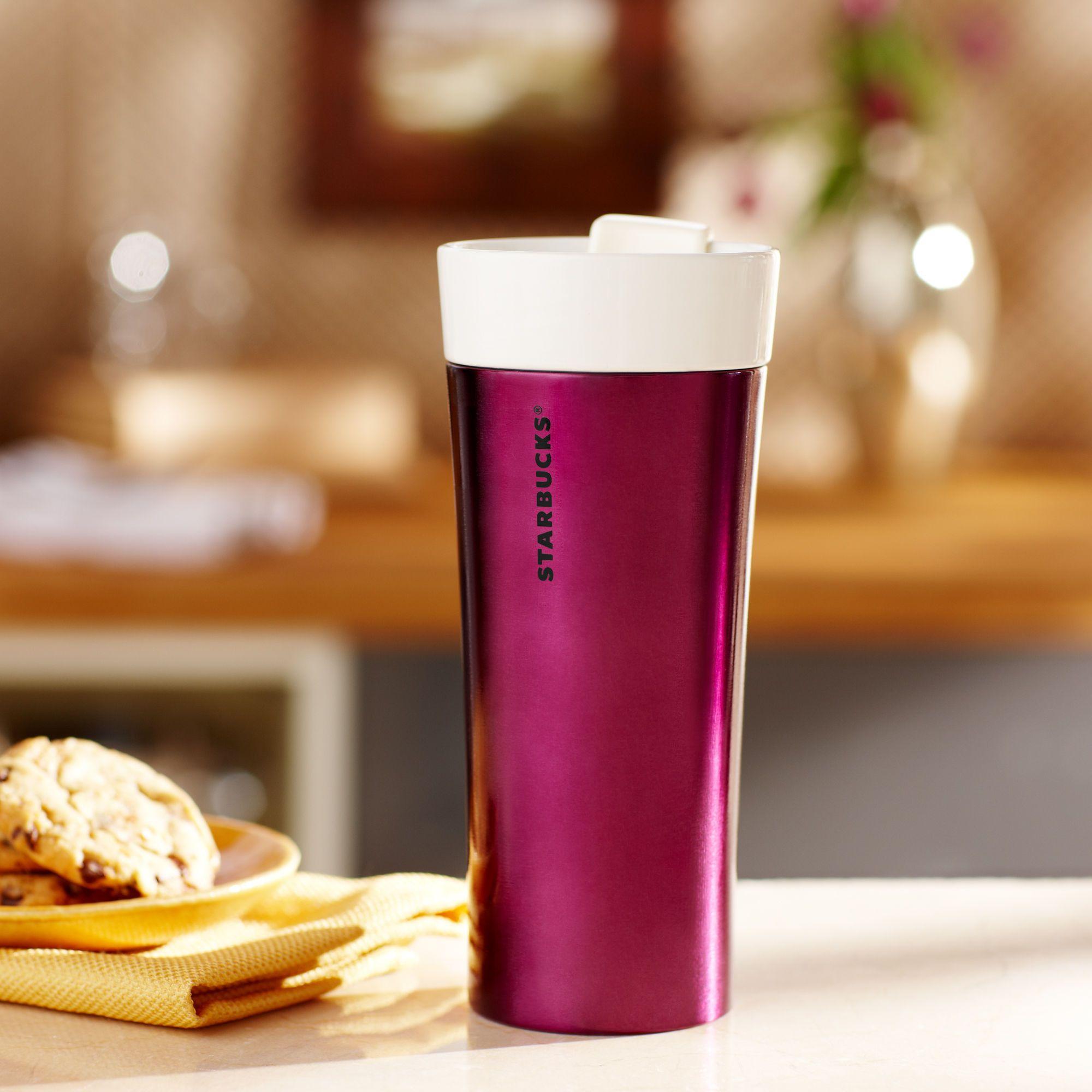 Coffee Starbucks Purple Ceramic Tumbler Mugs Starbucks Tumbler
