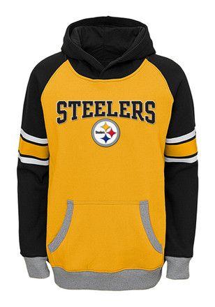 ba61af03 Pitt Steelers Kids Gold Robust Hooded Sweatshirt | NFL - Pittsburgh ...