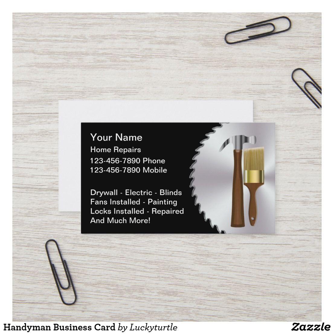 Handyman Business Card Cards Visit Carte De Visite