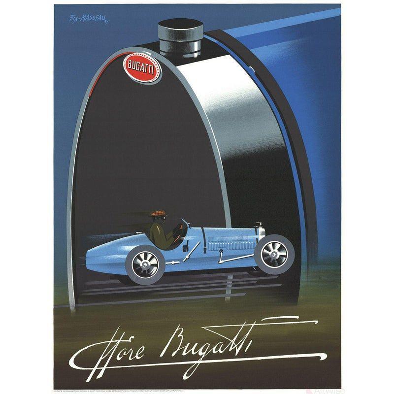 Pierre Fix Masseau, Bugatti, 1989, Lithograph