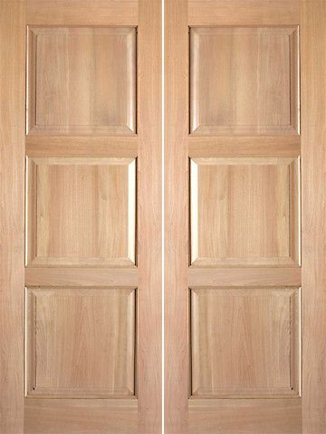 Prehung Slab Teak 3 Panel Rustic 4 Interior Double Door 80 96 Tall Kiln Dried Floating Panel Split Resistant Double Doors Interior Rustic Doors Doors Interior