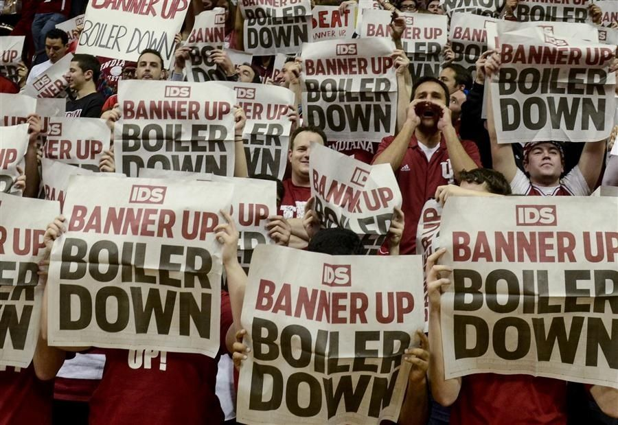 Banner Up Boiler Down Indiana Hoosiers Basketball Indiana Basketball Purdue Basketball