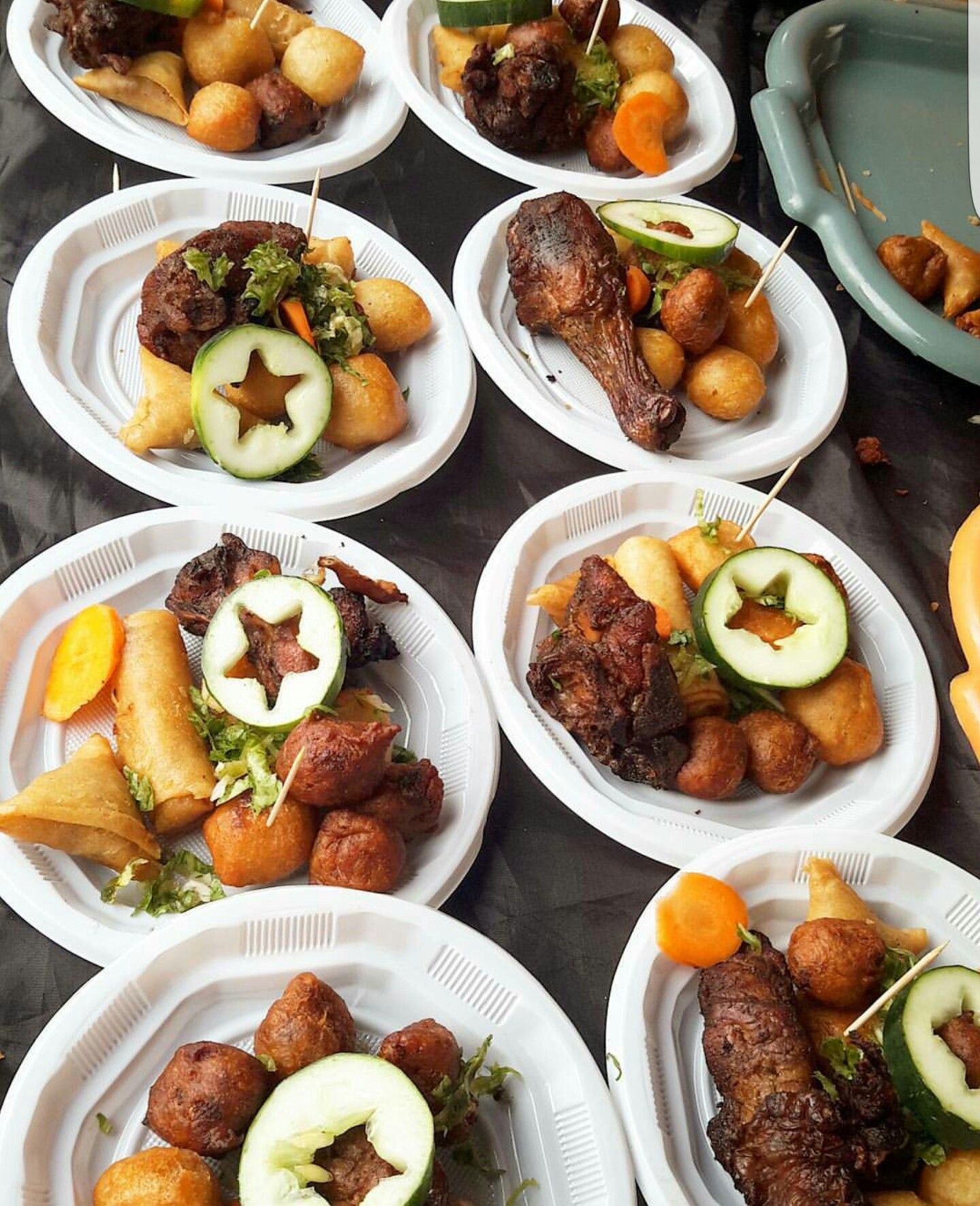 Nigerian Wedding Food: Almighty SMALL CHOPS! Serve This Plate Of Yummy Goodness