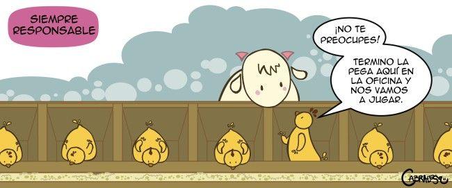 ¡Damos la bienvenida a nuestra nueva comiquera de los lunes! ...la gran CabraLesa - Pollo pesao y Cabrita Siempre responsable - El Definido
