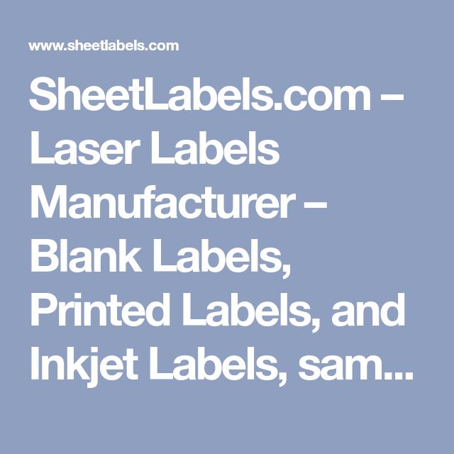 Laser Labels Manufacturer