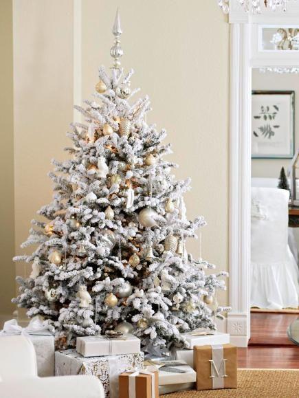 Christmas Tree Decorating Ideas Christmas tree, Silver ornaments - white christmas tree decorations