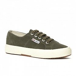 Superga 2750 Sueu Military Green Flat Sneaker