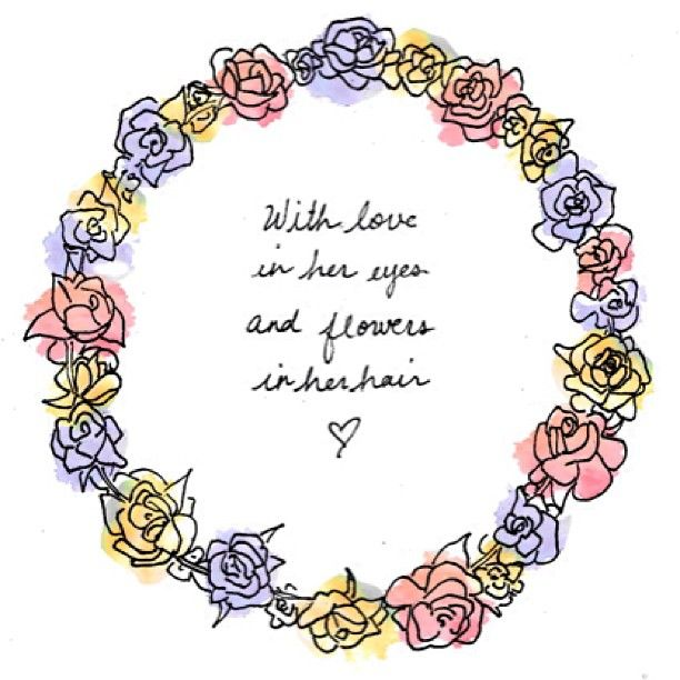 Love Flowers Hair Quote Words Pinterest Flower Crown Quotes