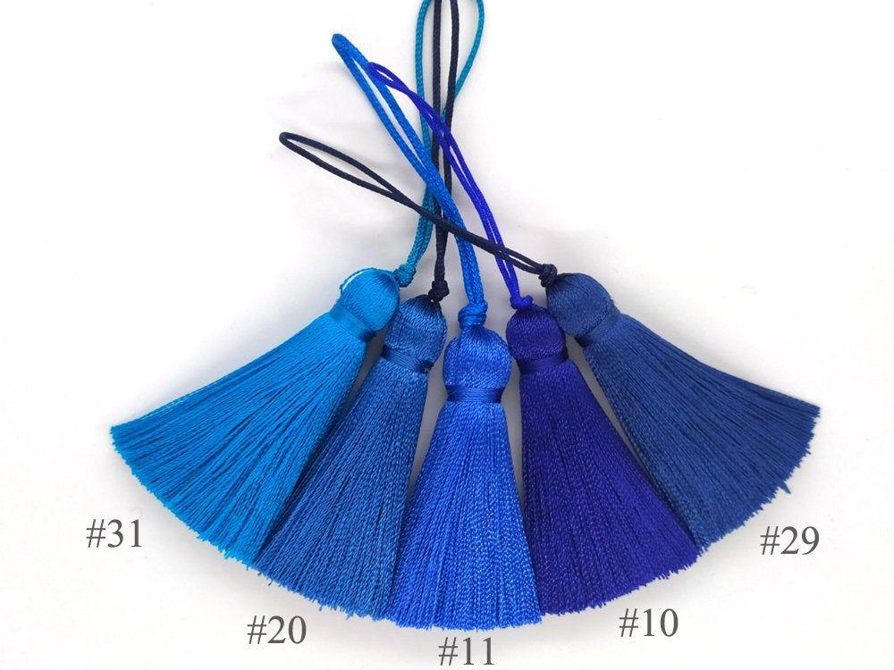 5cm Blue tassels